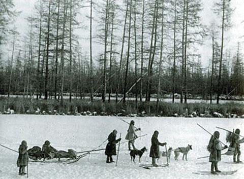 Группа кочующих юкагиров