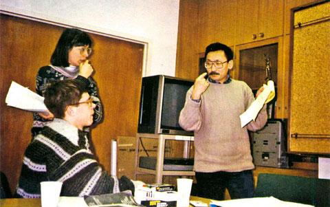 Доцент В.В. Максимов на семинаре по проблемам подготовки менеджеров в Университете Аляски. Фэрбенкс, 1996 г.