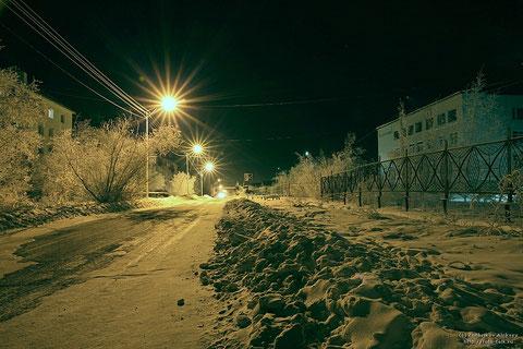 Ночной Жатай. Якутия