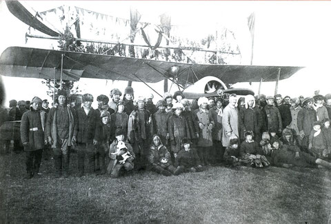 Прилет самолета Совпич 1925 г