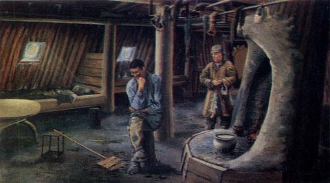 картина Носова В юрте бедняка