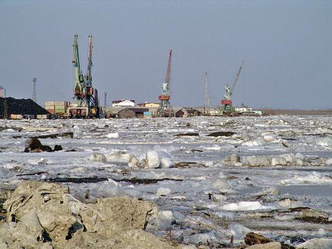 Порт Зырянка в наши дни. Якутия