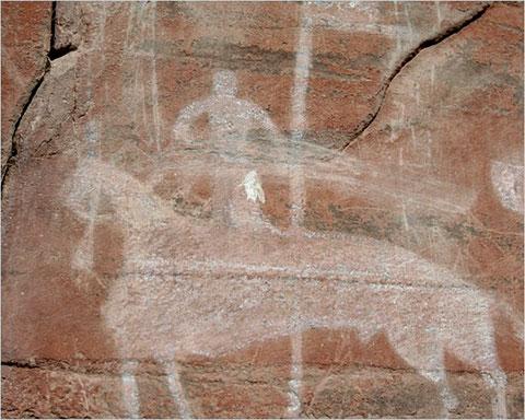 Образец наскального рисунка. Якутия