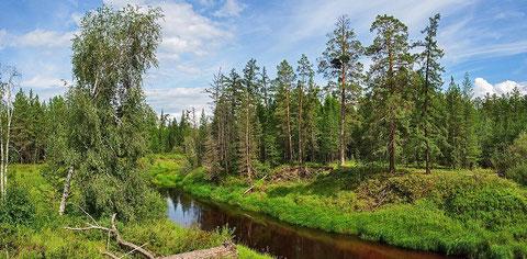 Речка Кенкеме, Якутия. Фото с сайта fotki.yandex.ru