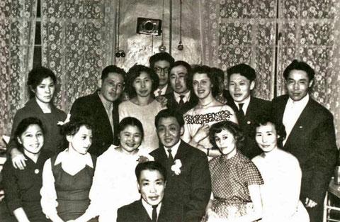 Свадьба студентов ИО-58 - Николая и Агидоры Федотовых. 1963 г. Якутск