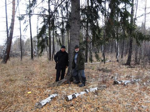 Со знатоком табагинских окрестностей Николаем Козловым у Дочи Священной Табагинской ели