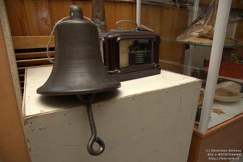 Судовой колокол в музее пос. Жатай