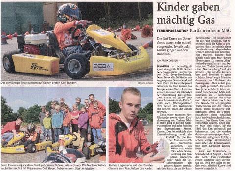 Wilhelmshavener Zeitung vom 08.07.2012