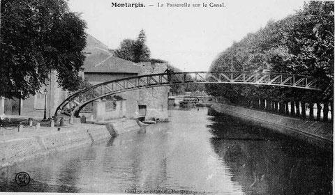 La passerelle sur le canal 1910
