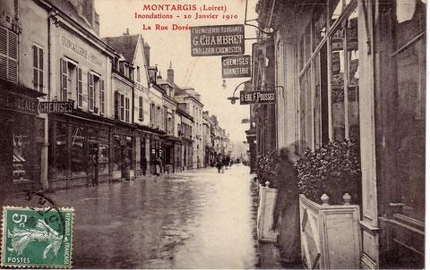 Montargis innondation du 20 janvier 1910