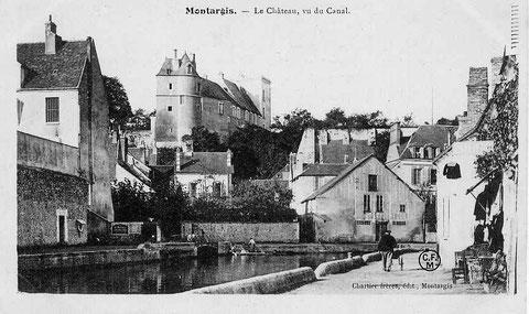 Le château vu du canal 1910