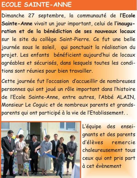 L'écho Ploeucois. Bulletin n°7, octobre 2009