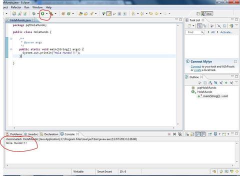 ejecución programa