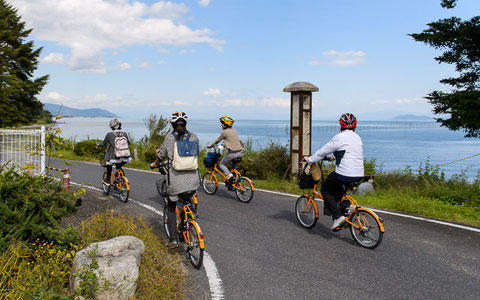 Electric bike tour at Lake Biwa