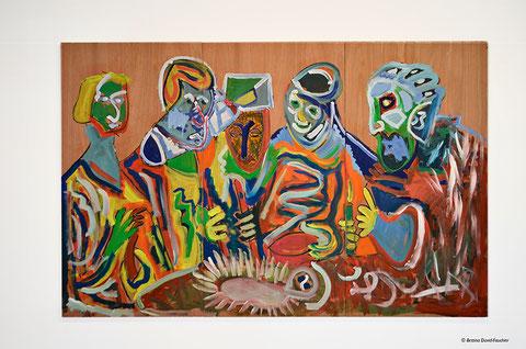 """""""L'adoration des bergers"""", d'aprés Georges de la Tour, acrylique sur contreplaqué, 240x155cm, 2011"""