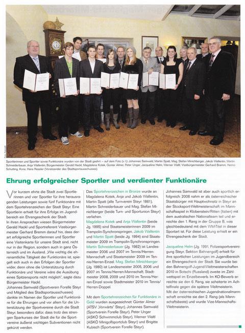 Amtsblatt der Stadt Steyr - Ausgabe 12/2010