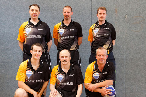 v.l.n.r.: hinten: Hilmar Scheibel, Steffen Edler, Thomas Franzke; vorne: Andreas Zelfel, Andreas Meyer, Joachim Gürtler