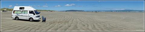 Der Oreti Beach in seiner ganzen Pracht (zum Vergrößern bitte Anklicken)