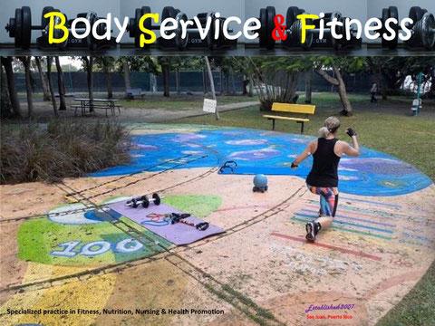 Puede seleccionar sesiones de Fitness al aire libre en Hato Rey, PR (o si lo desea en el gimnasio en Carolina, PR).