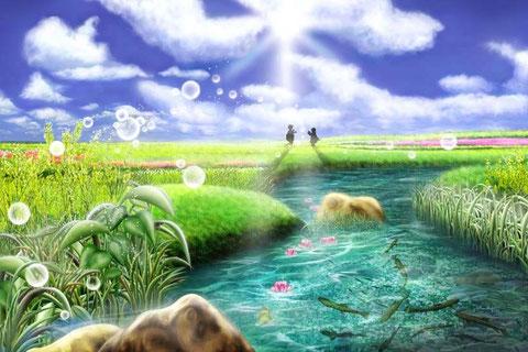 春の小川 絵:正垣有紀