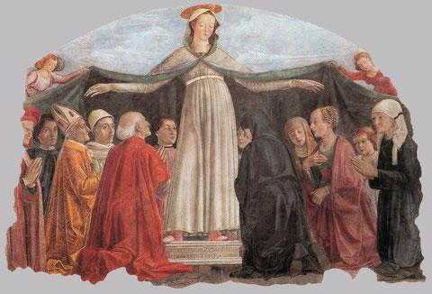 Virgen del Manto. Ghirlandaio. Florencia