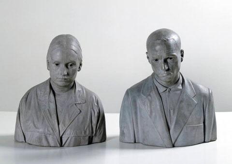 Antonio y Mari, 1967-1968.Madera policromada.Colección privada