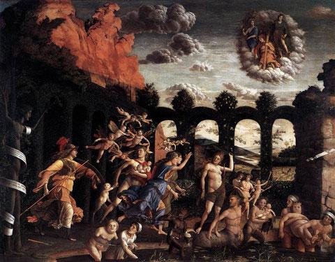 Atenea expulsa a los Vicios del Jardín de la Virtud,Andrea Mantegna,Museo del Louvre SXV
