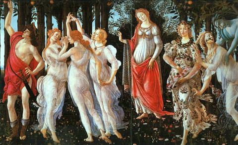 La Primavera de Botticelli.Uffici.Florencia