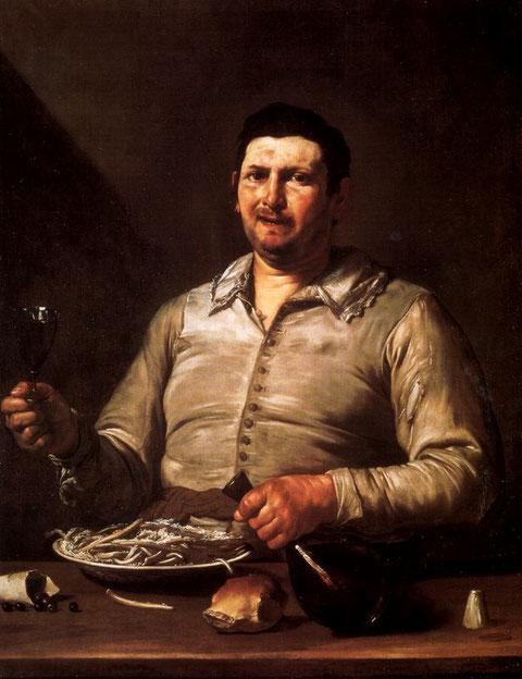 """""""El gusto""""(Hartford,Connecticut) se representa mediante la comida y la bebida, el plato de loza derramado sobre la mesa, cualquiera que sea su contenido,difícil de comer pues los cubiertos brillan por su ausencia..."""
