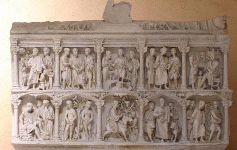 Sarcófago de Junio Basso, S IV, Museos Vaticanos