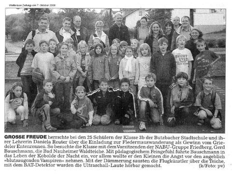 Fledermausaktion für die Stadtschule Butzbach