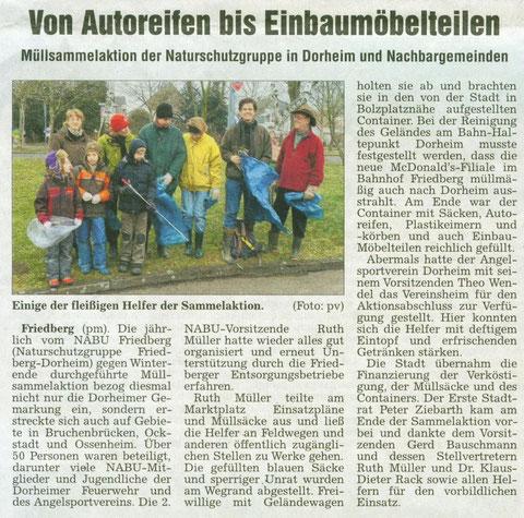 "Aktion ""Saubere Landschaft"" am 29. Februar 2011"