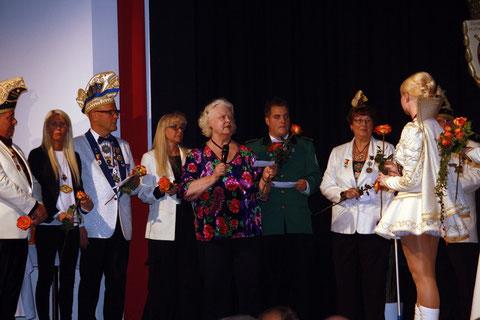 Der Auftritt des Prinzensenats bei der Proklamation