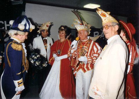Horst Zimmermann, Gisela I., Wolfgang I. und Hans Hofstadt - 27. 1. 1991
