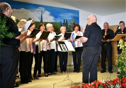 beim Jubiläums-Sängerfest in Altershausen-Sechsthal - 2015