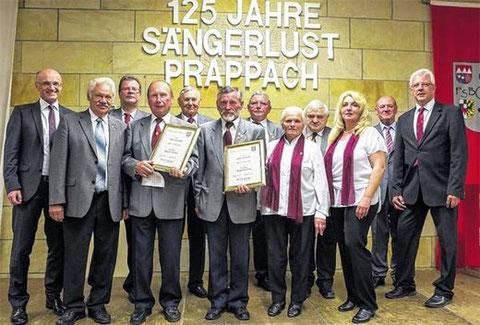 125 Jahre Sängerlust Prappach - Kommersabend mit Ehrungen - 9. Mai 2015