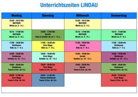 Unterrichtszeiten Lindau