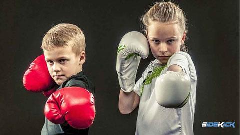 Kinder beim Kickboxen in Kressbronn