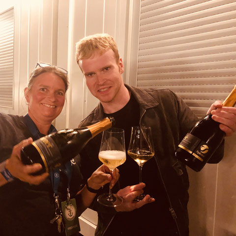 "Steve Garrigan from Kodaline celebrates his 31st birthday at the Seaside Festival Spiez. The award winning local winemaker Ursula Irion serves her masterpiece ""Jubilé""!"