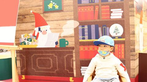 サンタさんと子供のフリー素材 Free material for Santa and children