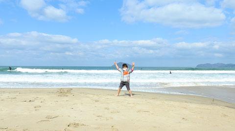 砂浜子供海の写真フリー素材 Sandy beach children sea photos free material