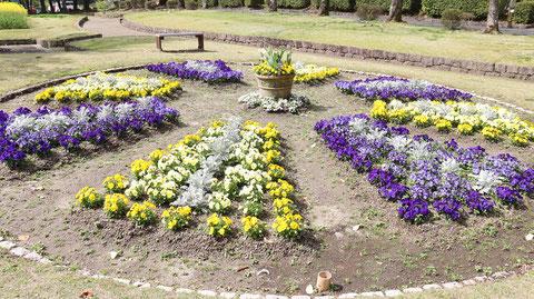 公園の花壇の写真フリー素材 Park Flowerbed Photo Free Material