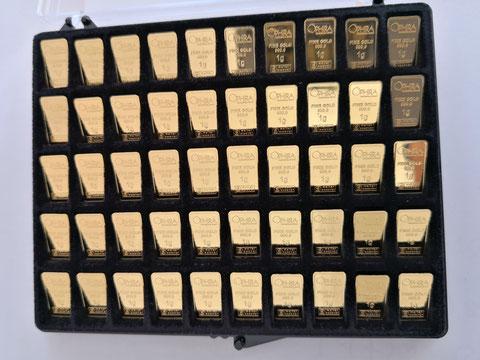 Untiy Goldbars 50 mal 1 g Feingold