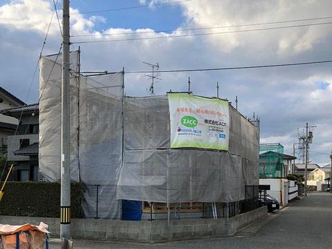 福岡市東区 I様邸事務所新築工事 上棟