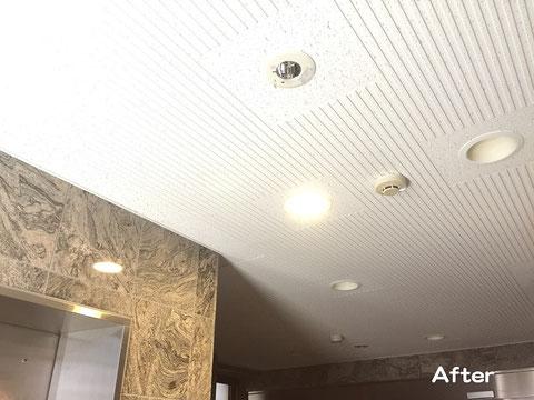 天井材(化粧吸音ボード)施工後