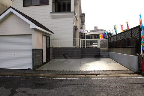 外構工事後(那珂川市 K様邸)駐車場拡張後