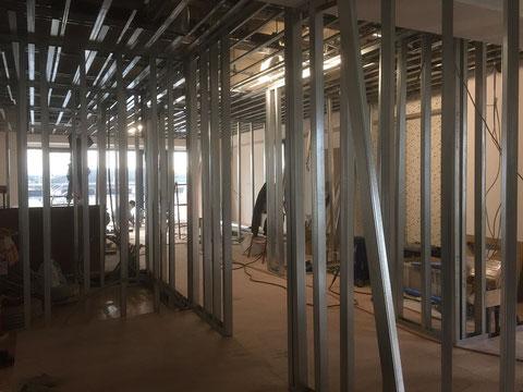 鋼製天井下地・鋼製壁下地工事