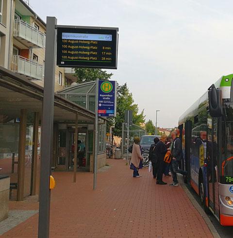 TFT-Display an der Kopernikusstraße in Hannover