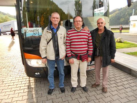 En CROATIE, avec les musiciens NINO et JEAN PAUL
