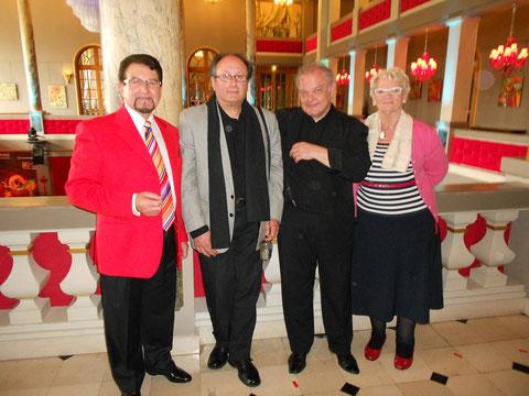 A FORGES les EAUX avec Gaetan BLOOM et Mr et Mme Jean FREEL 2015
